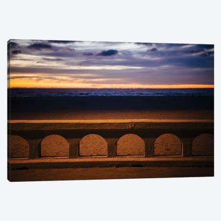 Sea beach at dusk, Seaside, Oregon, USA Canvas Print #PIM15733} by Panoramic Images Canvas Artwork