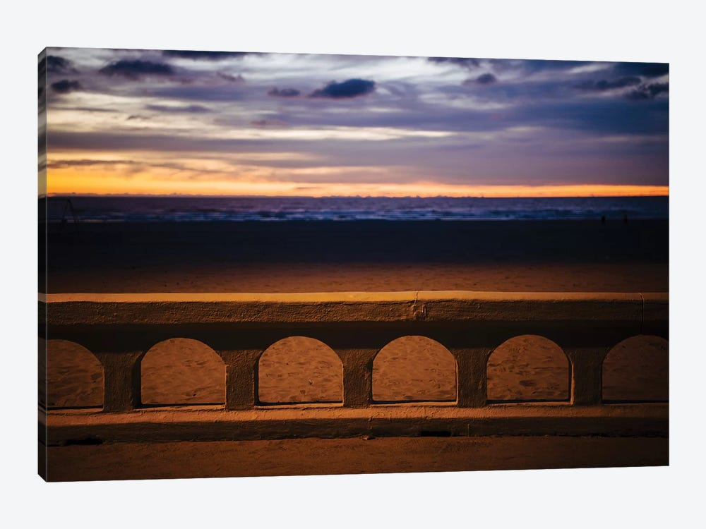 Sea beach at dusk, Seaside, Oregon, USA by Panoramic Images 1-piece Canvas Print