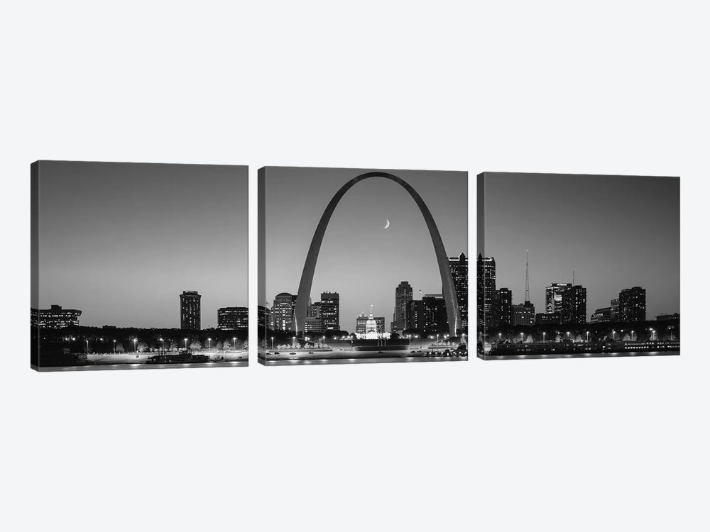 Skyline, St. Louis, MO, USA by Panoramic Images 3-piece Canvas Print