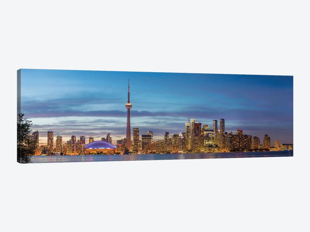 Skylines and CN Tower from Toronto Island Park, Toronto, Ontario, Canada by Panoramic Images 1-piece Canvas Artwork