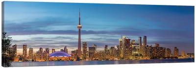 Skylines and CN Tower from Toronto Island Park, Toronto, Ontario, Canada Canvas Art Print