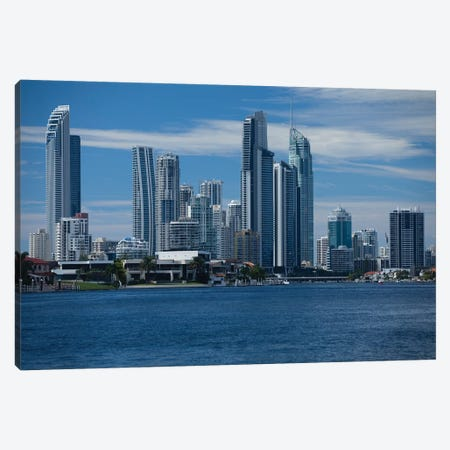 Skylines at the waterfront, Coral Sea, Surfer's Paradise, Gold Coast, Queensland, Australia Canvas Print #PIM15748} by Panoramic Images Canvas Art Print