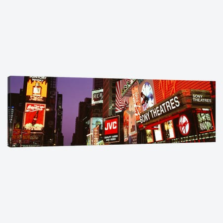 Billboards On Buildings, Times Square, NYC, New York City, New York State, USA Canvas Print #PIM1575} by Panoramic Images Canvas Artwork