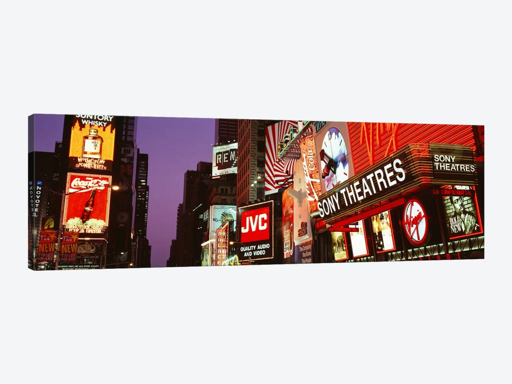 Billboards On Buildings, Times Square, NYC, New York City, New York State, USA by Panoramic Images 1-piece Canvas Artwork