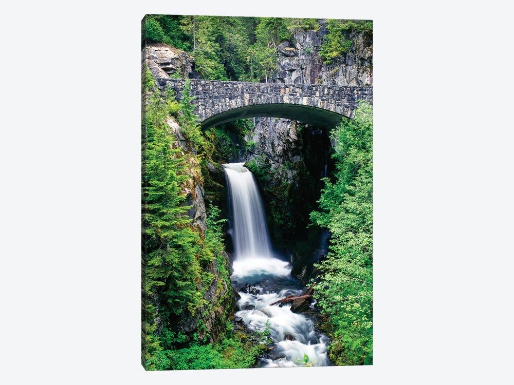 Stone bridge passes over Christine Falls, Mt. Rainier National Park, Washington, USA by Panoramic Images 1-piece Canvas Print