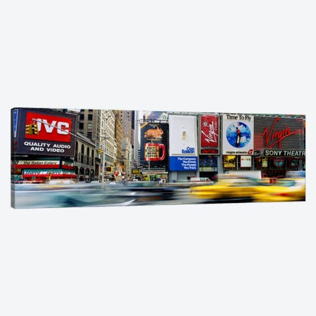 Blurred Motion Of Traffic, Times Square, Manhattan, New York City, New York, USA Canvas Print #PIM1576} by Panoramic Images Canvas Art