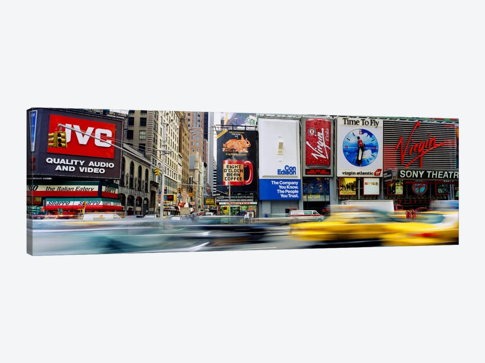 Blurred Motion Of Traffic, Times Square, Manhattan, New York City, New York, USA by Panoramic Images 1-piece Canvas Art Print