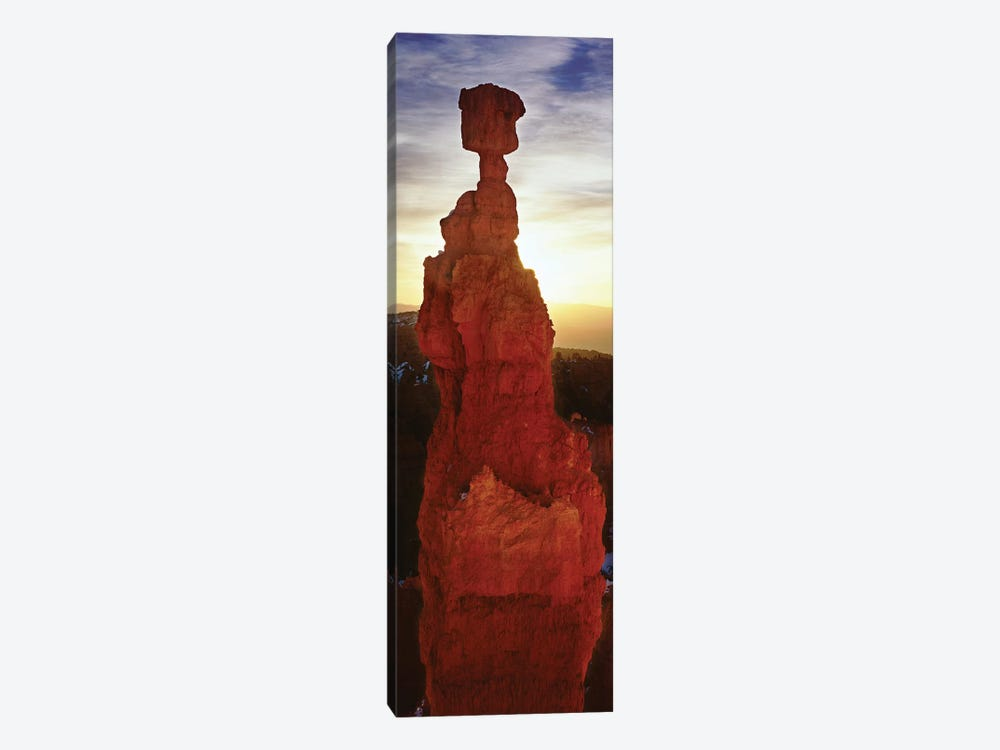 Sunrise behind a cliff, Thor's Hammer, Bryce Canyon National Park, Utah, USA by Panoramic Images 1-piece Canvas Art