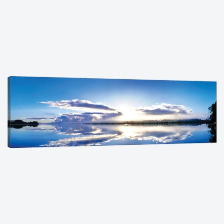 Sunrise reflected on water, Mangawhai, Northland, New Zealand Canvas Print #PIM15773} by Panoramic Images Canvas Wall Art