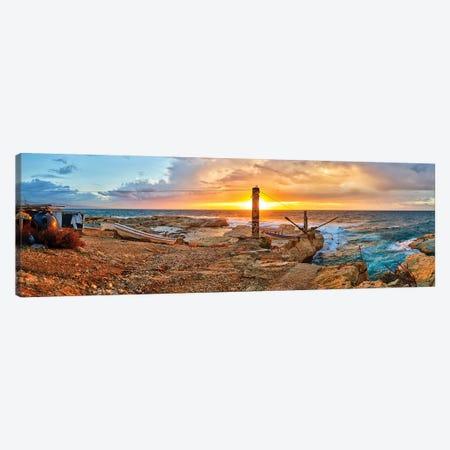 Sunset along Raouche Coast, Beirut, Lebanon Canvas Print #PIM15774} by Panoramic Images Art Print