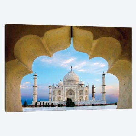 Taj Mahal exterior view, Agra, Uttar Pradesh, India Canvas Print #PIM15783} by Panoramic Images Art Print
