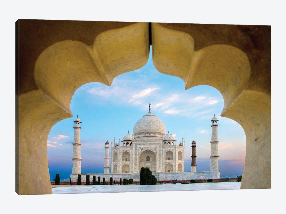 Taj Mahal exterior view, Agra, Uttar Pradesh, India by Panoramic Images 1-piece Canvas Wall Art