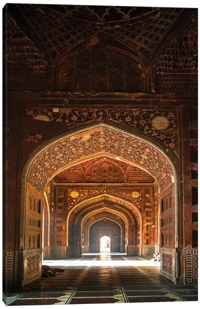 Taj Mahal interior, Agra, Uttar Pradesh, India Canvas Art Print