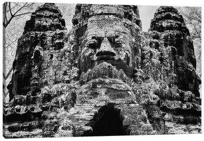 The south gate of the Khmer temple complex of Angkor Thom, Siem Reap, Cambodia Canvas Art Print