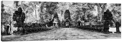The west gate of the Khmer temple of Preah Khan, Siem Reap, Cambodia Canvas Art Print