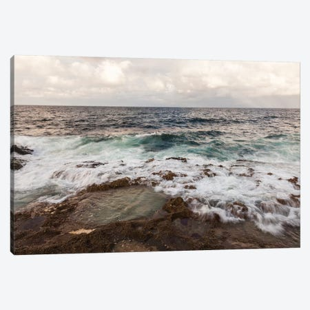 Tide pool and ocean surf, Havana, Cuba Canvas Print #PIM15795} by Panoramic Images Canvas Art Print