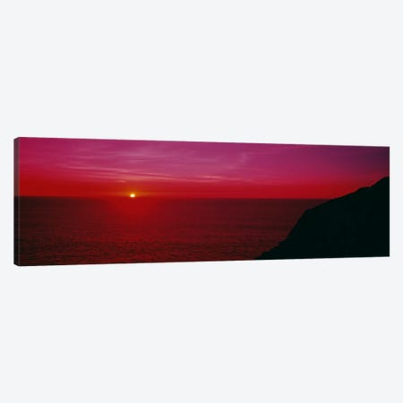 A Majestic Fuchsia Sunset Canvas Print #PIM1579} by Panoramic Images Canvas Print