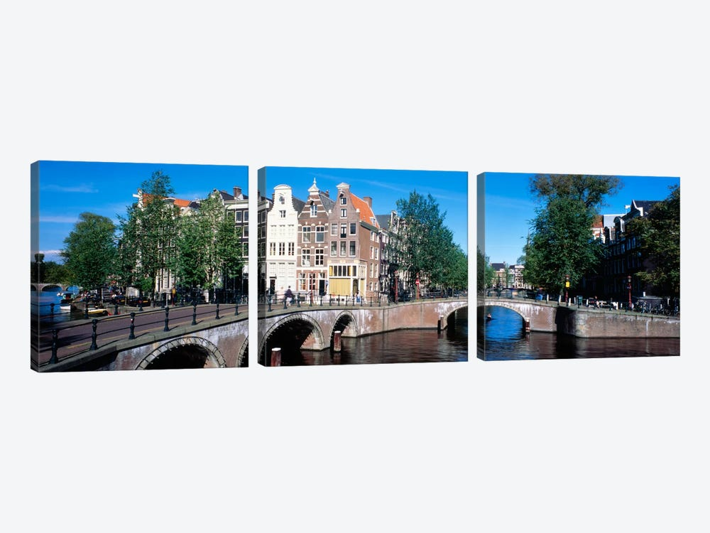 Row Houses, Amsterdam, Netherlands by Panoramic Images 3-piece Canvas Art Print