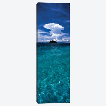 Trees on an island, San Blas Islands, Panama 3-Piece Canvas #PIM15802} by Panoramic Images Canvas Wall Art