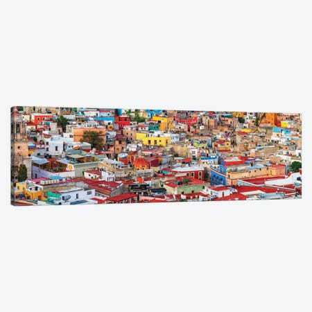 View of colorful city of Guanajuato in Mexico Canvas Print #PIM15824} by Panoramic Images Art Print