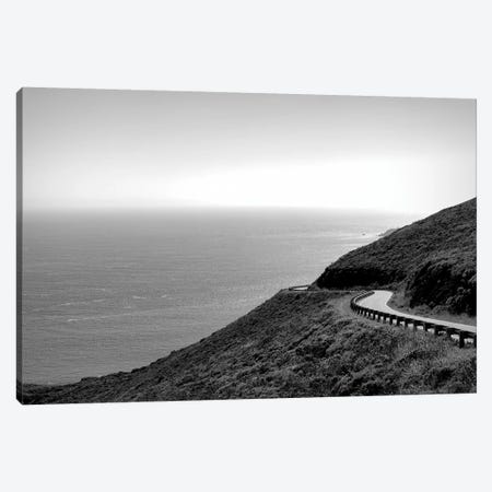 View of curving coastal road, Marin County, San Francisco Bay, San Francisco, San Francisco County, California, USA Canvas Print #PIM15826} by Panoramic Images Canvas Print