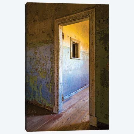 View of devastated home interior, Kolmanskop, Namib desert, Luderitz, Namibia, Africa Canvas Print #PIM15828} by Panoramic Images Canvas Art