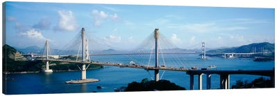 Ting Kaw & Tsing Ma Bridge Hong Kong China Canvas Art Print