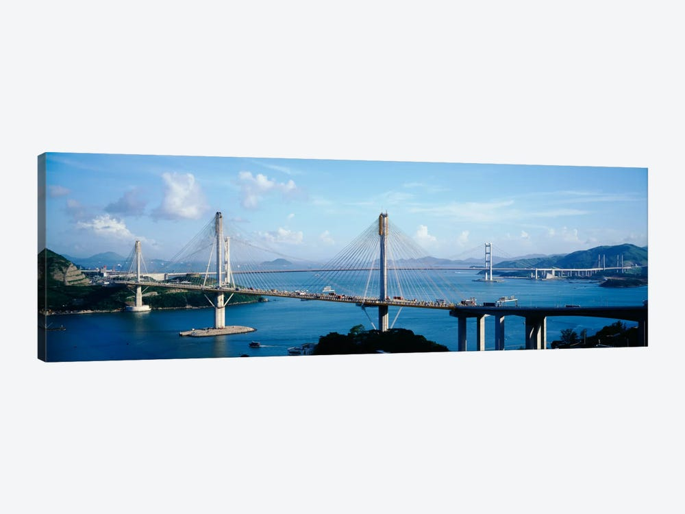 Ting Kaw & Tsing Ma Bridge Hong Kong China 1-piece Canvas Wall Art
