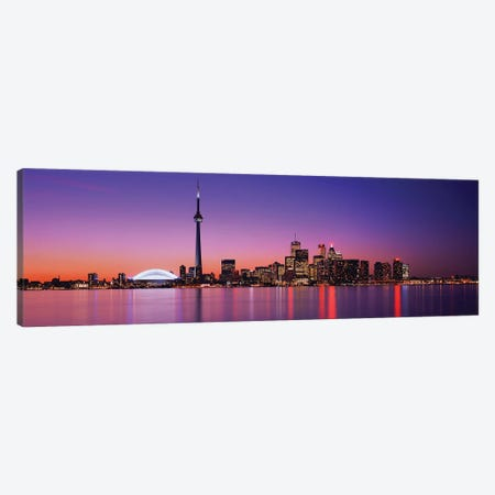 View of evening sky over Toronto, Ontario, Canada Canvas Print #PIM15832} by Panoramic Images Canvas Art Print