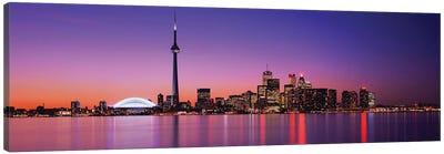 View of evening sky over Toronto, Ontario, Canada Canvas Art Print