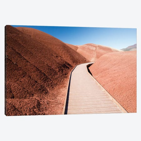 View of painted hills, John Day Fossil beds National Monument, Wheeler County, Oregon, USA Canvas Print #PIM15840} by Panoramic Images Canvas Art