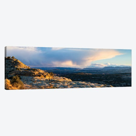 View of storm cloud at sunset over Grand Staircase-Escalante National Monument, Utah, USA 3-Piece Canvas #PIM15849} by Panoramic Images Canvas Wall Art