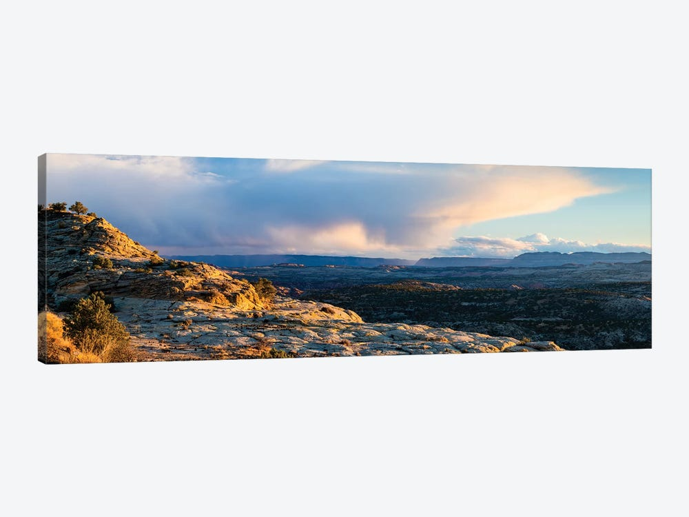 View of storm cloud at sunset over Grand Staircase-Escalante National Monument, Utah, USA by Panoramic Images 1-piece Canvas Artwork