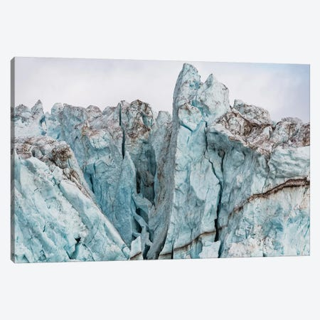View of the Bloomstrandbreen Glacier, Haakon VII Land, Spitsbergen, Svalbard, Norway Canvas Print #PIM15851} by Panoramic Images Canvas Print