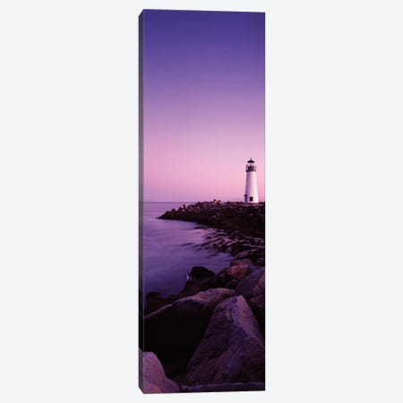 Walton Lighthouse at purple dusk, Santa Cruz, California, USA Canvas Print #PIM15858} by Panoramic Images Canvas Art Print