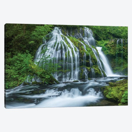 Water flowing through rocks, Panther Creek Falls, Skahamia County, Washington State, USA 3-Piece Canvas #PIM15859} by Panoramic Images Canvas Print