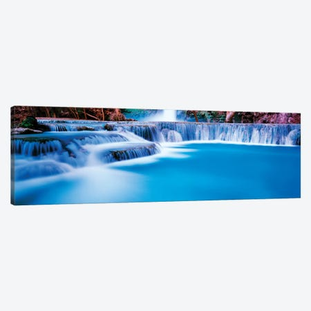Waterfall in a forest, Mooney Falls, Havasu Canyon, Havasupai Indian Reservation, Grand Canyon National Park, Arizona, USA Canvas Print #PIM15860} by Panoramic Images Canvas Artwork