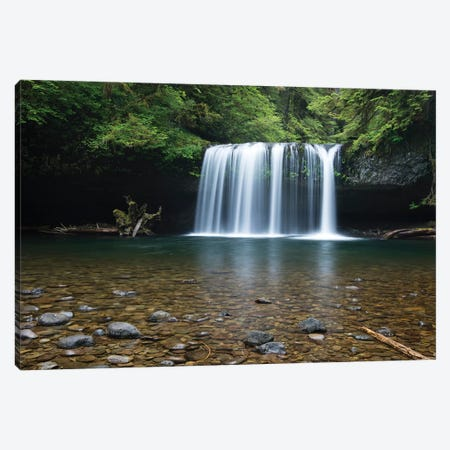 Waterfall in a forest, Samuel H. Boardman State Scenic Corridor, Pacific Northwest, Oregon, USA Canvas Print #PIM15863} by Panoramic Images Canvas Art