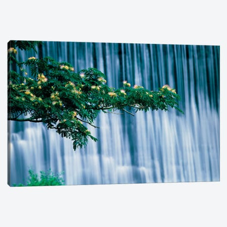 Waterfalls, Kamo-River, Kyoto, Japan Canvas Print #PIM15865} by Panoramic Images Art Print