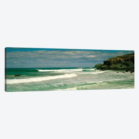 Waves breaking on the shore, backside of Lennox Head, New South Wales, Australia Canvas Print #PIM15869} by Panoramic Images Canvas Art