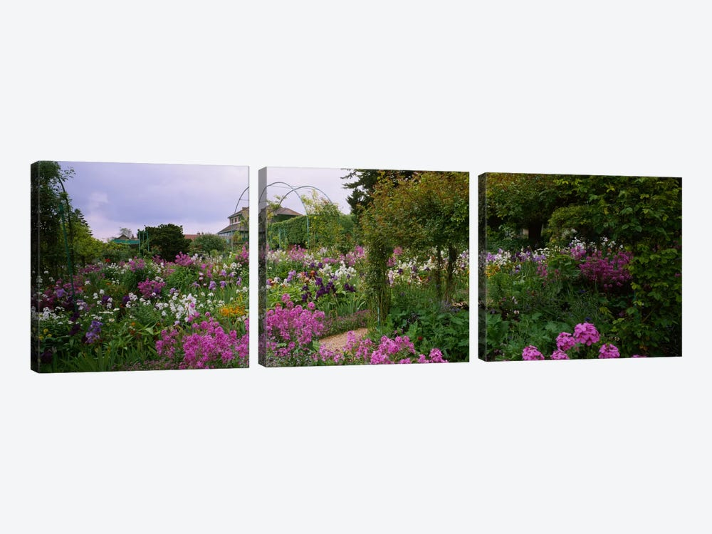 Clos Normand, Fondation Claude Monet, Giverny, France by Panoramic Images 3-piece Canvas Art