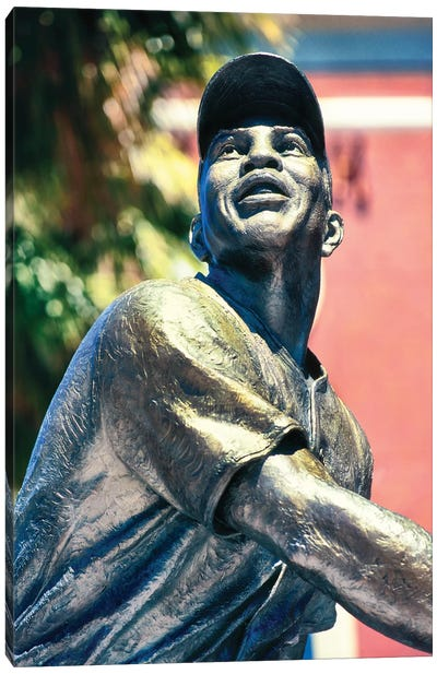 Willie Mays statue in AT&T Park, San Francisco, California, USA Canvas Art Print