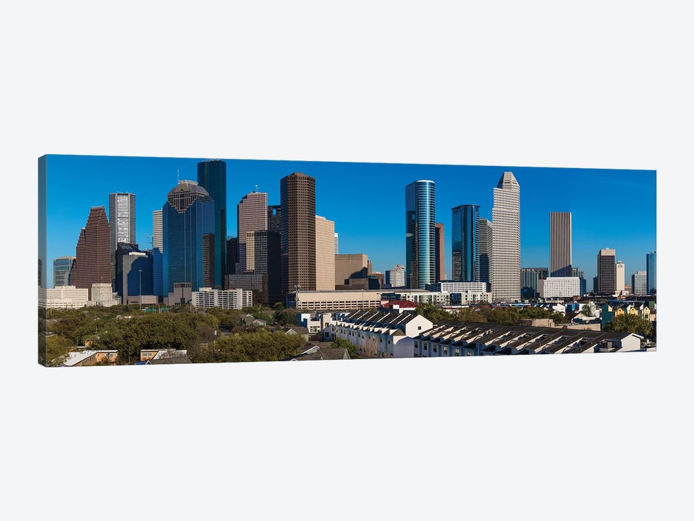 Cityscape Illuminated At Sunset, Houston, Texas by Panoramic Images 1-piece Canvas Art