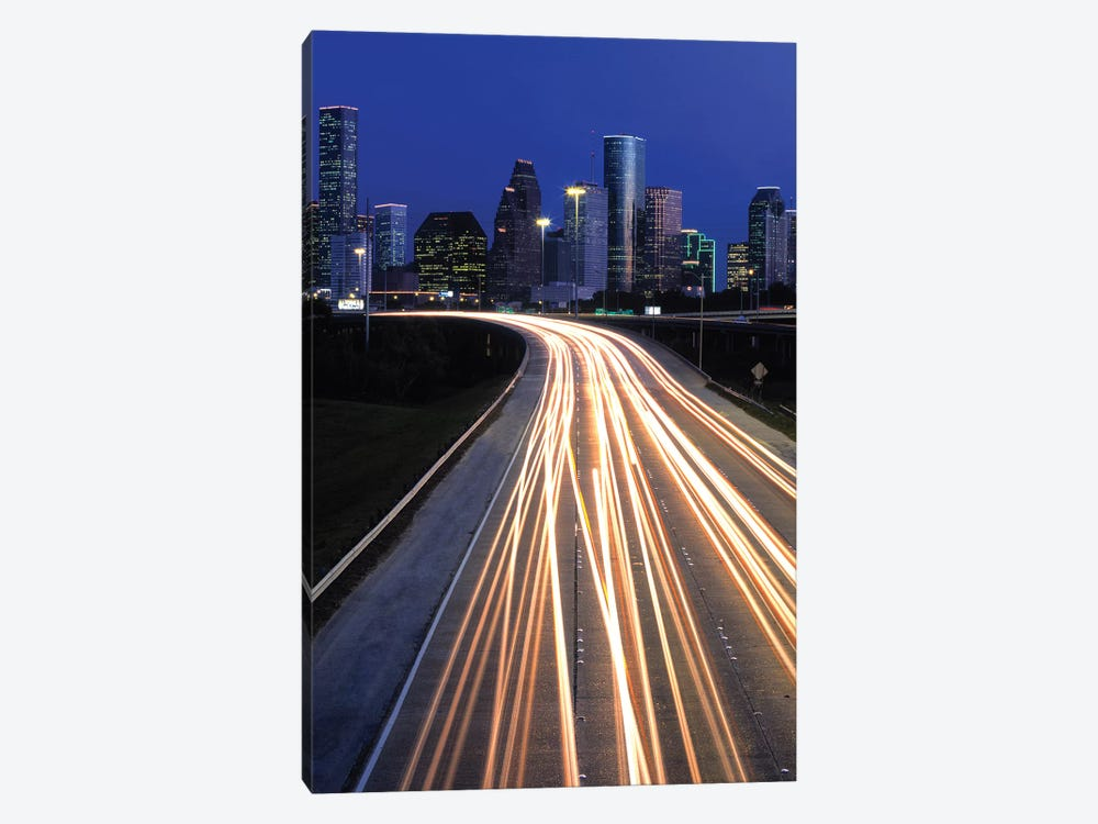 Light Trails On Road, Houston, Texas, USA by Panoramic Images 1-piece Canvas Print