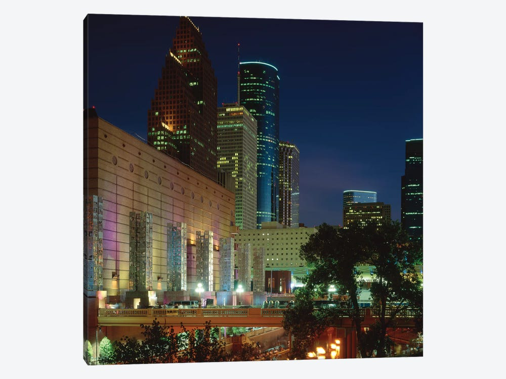 Skyscrapers In A City, Houston, Texas, USA by Panoramic Images 1-piece Canvas Art Print