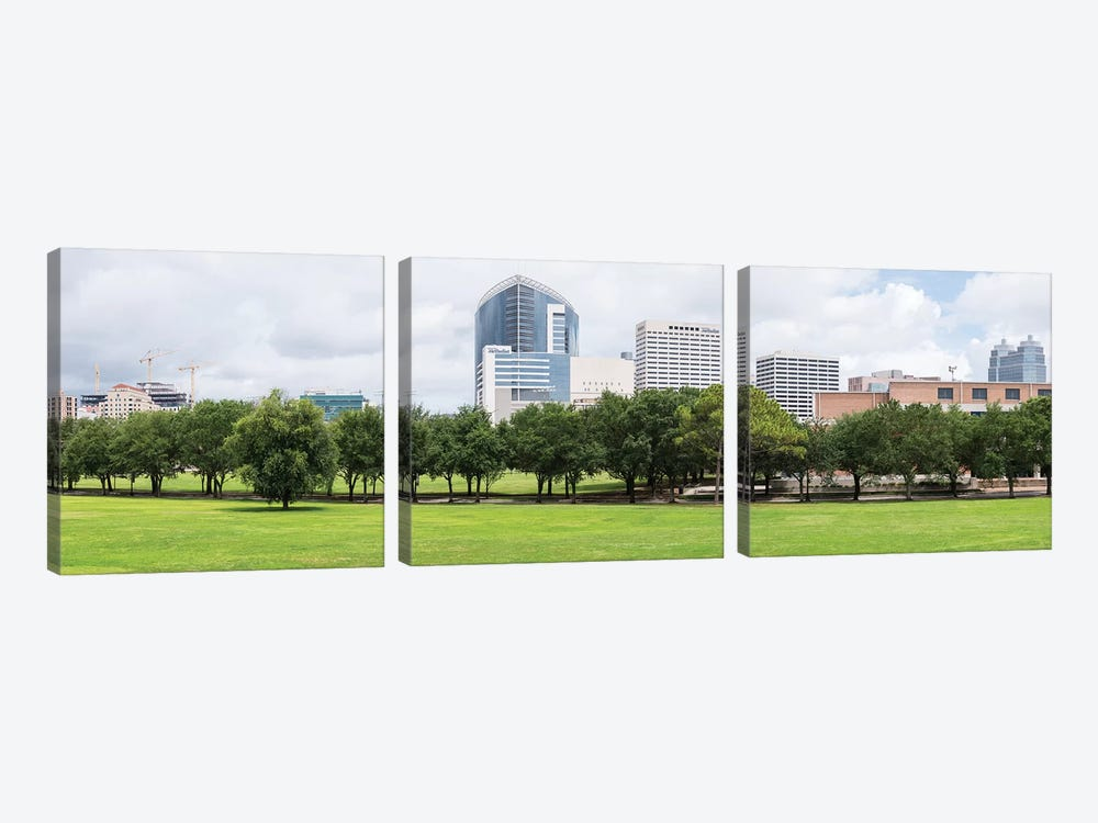 Texas Medical Center And Rice University In Houston, Texas, USA by Panoramic Images 3-piece Canvas Art Print