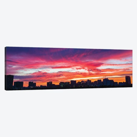 View Of Sunset Looking Towards Medical Center And Rice University, Houston, Texas, USA Canvas Print #PIM15902} by Panoramic Images Canvas Art Print
