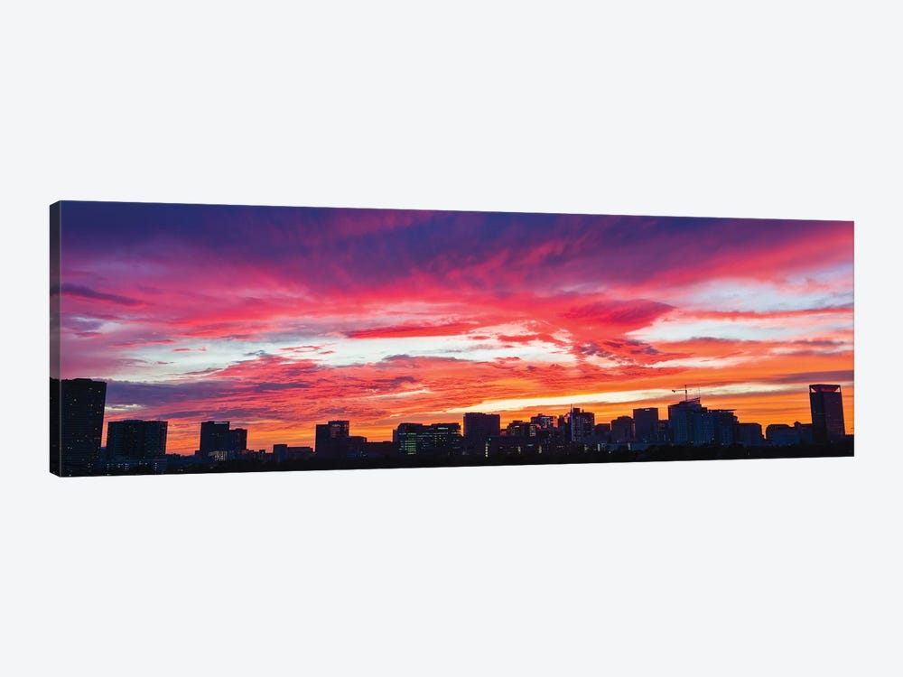 View Of Sunset Looking Towards Medical Center And Rice University, Houston, Texas, USA by Panoramic Images 1-piece Canvas Artwork