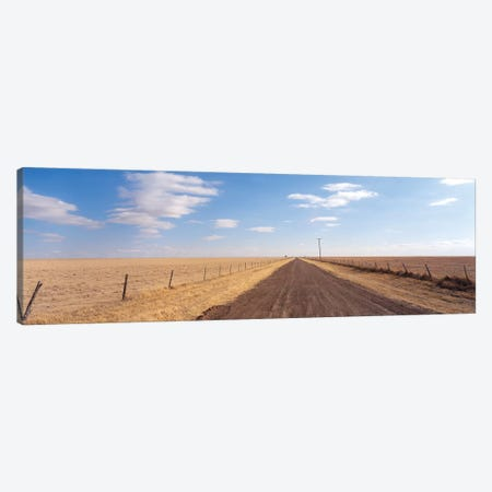 Country Road Passing Through A Landscape, Texas Panhandle, Texas, USA Canvas Print #PIM15904} by Panoramic Images Canvas Art