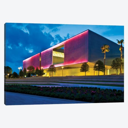 Tampa Museum Of Art At Dusk, Tampa, Hillsborough County, Florida, USA Canvas Print #PIM15906} by Panoramic Images Canvas Artwork